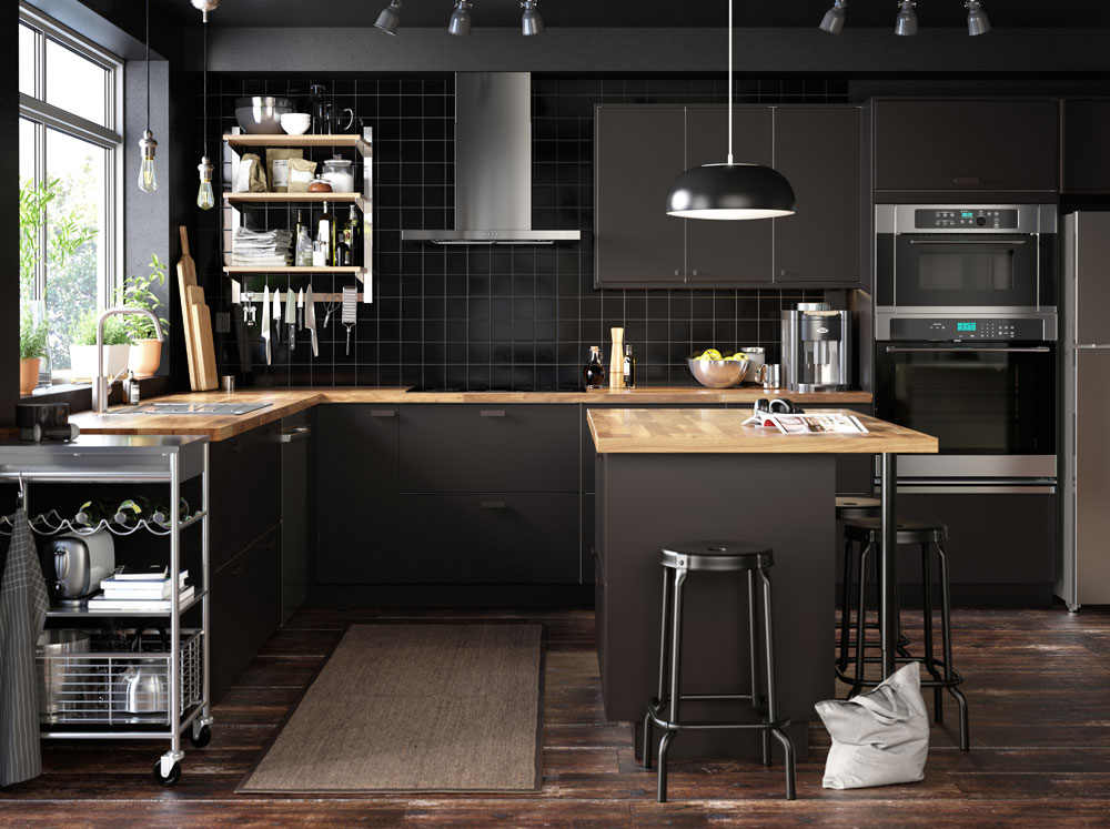 Black kitchens are in for 2019.